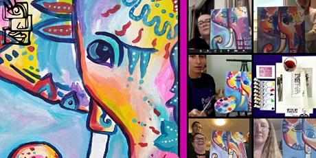 Fantasy Elephant (Studio Paint & Sip BYO Class) tickets