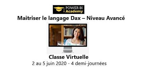 Maîtriser le langage DAX - Niveau avancé - 2 jours - 2 au 5 Juin billets
