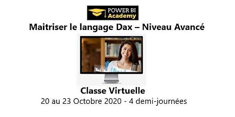 Maîtriser le langage DAX - Niveau avancé - 2 jours - 20 au 23 Octobre 2020 billets