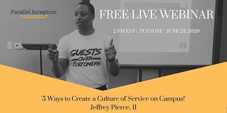 5 Ways to Create a Culture of Service on Campus! - FREE Live Webinar tickets