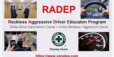 Aggressive Driver Course Virginia tickets