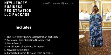 New Jersey Business Registration LLC Package tickets