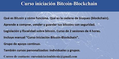 CURSO DE INICIACIÓN A BITCOIN-BLOCKCHAIN Tickets
