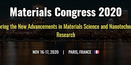 Materials Congress 2020 tickets