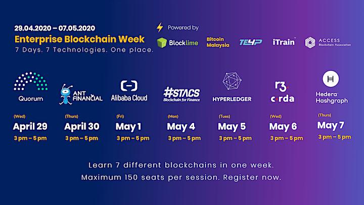 Enterprise Blockchain Week | Learn 7 Technologies in 7 Days image