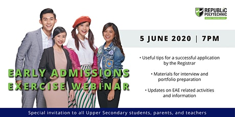 Early Admissions Exercise (EAE) Webinar 2020 tickets