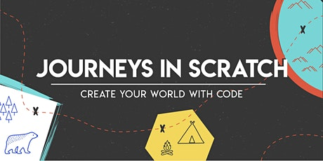 Journeys in Scratch: Create your world with code (Creative Bundle), [Ages 7-10], 25 May - 28 May Holiday Camp (10:00AM) @ Online tickets
