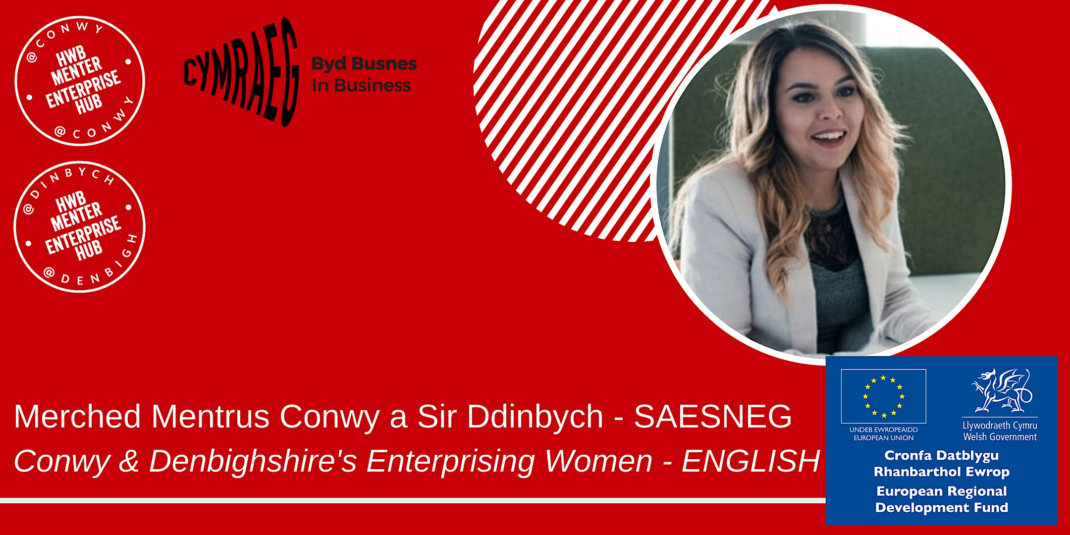 Covid-19: Conwy & Denbighshire's Enterprising Women - ENGLISH Meet-Up