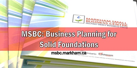 MSBC Group Consult: Business Planning for Solid Foundations