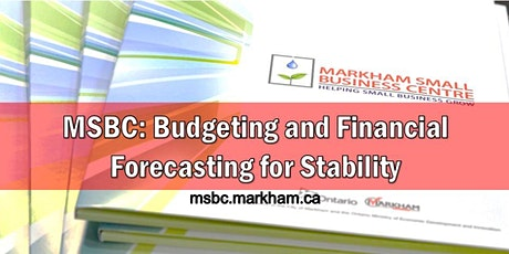 MSBC Group Consult: Budgeting and Financial Forecasting for Stability tickets