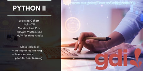 Python  II - Learning Cohort (6 class  series) tickets