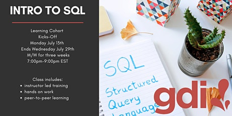 Intro to SQL: Learning Cohort (6 class series) tickets
