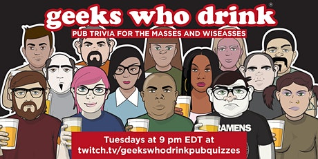 Geeks Who Drink Virtual Pub Quiz tickets