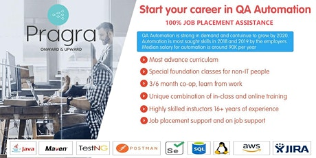 FREE SEMINAR - QA Automation Career Path Program for Newcomers with Job Assistance  tickets
