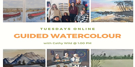 [ONLINE] Guided Watercolour (Pencils/Crayons) Art Class tickets