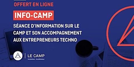 INFO CAMP - Séance d'information virtuelle sur LE CAMP et son accompagnement billets