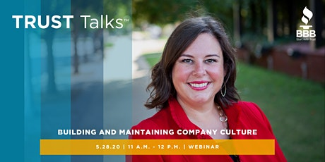 TRUST Talks ™ - Building and Maintaining Company Culture tickets