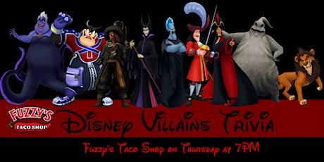 Disney Villains Trivia at Fuzzy's Taco Shop entradas