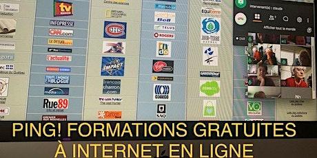 PING! FORMATIONS GRATUITES À INTERNET DU MINISTÈRE DU TRAVAIL tickets