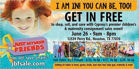 HUGE Children's Sales Event - *FREE ADMISSION TICKET* - Just Between Friends Cypress Spring 2020 tickets
