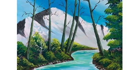 ONLINE Painting Class: Scenic River painting, Bob Ross Style! (07-26-2020 starts at 4:00 PM) tickets