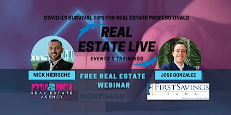 COVID-19 SURVIVAL TIPS FOR REAL ESTATE PROFESSIONALS tickets
