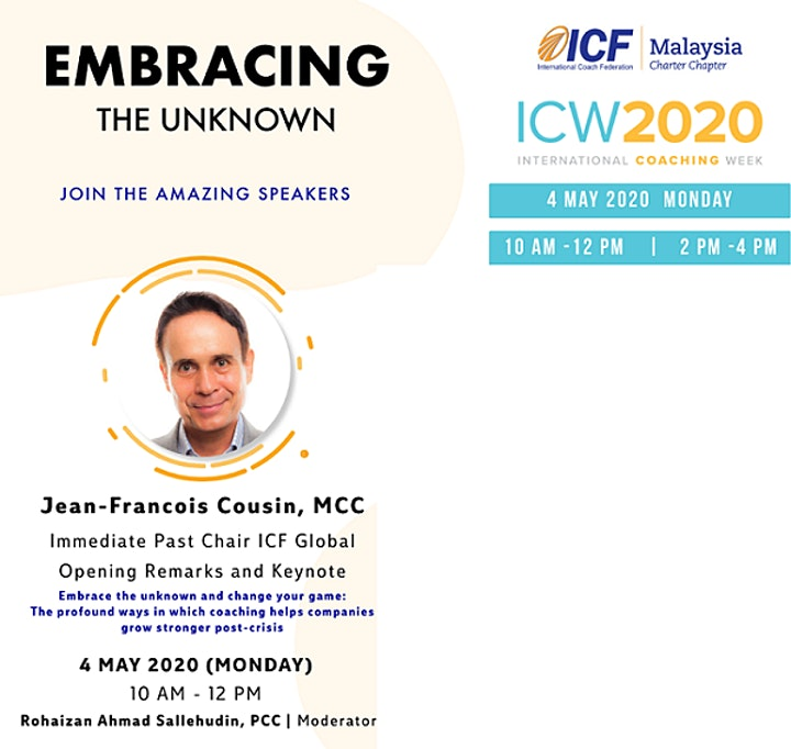 ICF Malaysia - ICW 2020: Embracing the Unknown and Change your Game image