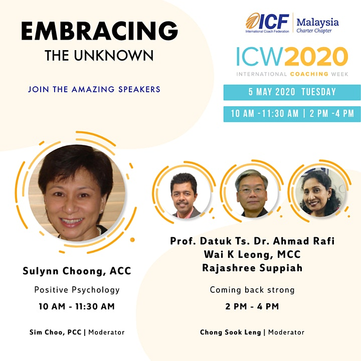 ICF Malaysia - ICW 2020, Day 2: Positive Psychology in Coaching image
