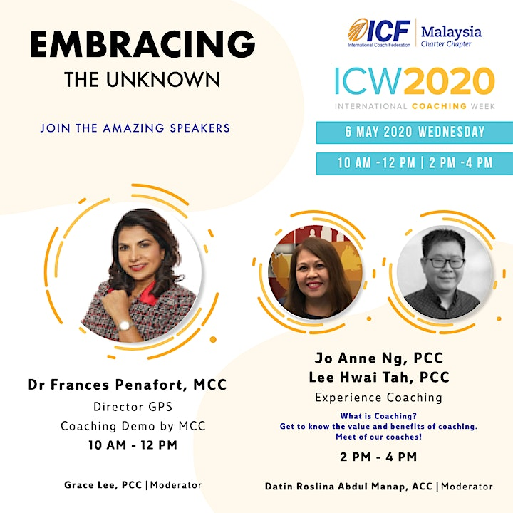 ICF Malaysia - ICW 2020, Day 3: Live Coaching Demo by Master Coach image