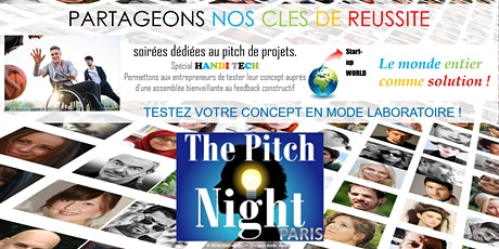 "Pitch Night Paris spécial ""HandiTech"" billets"