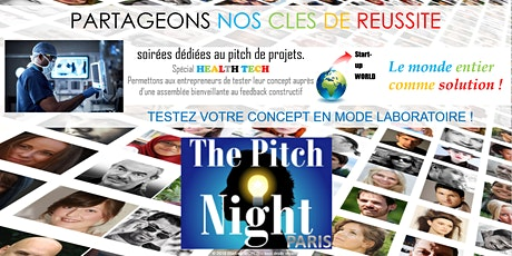 "Pitch Night Paris spécial ""Health Tech"" billets"