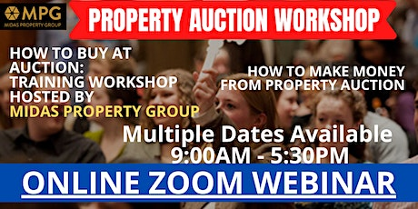 Property Auction Workshop - Saturday 6th June How Make Money From Auctions tickets