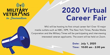 Military Veterans in Journalism 2020 Virtual Career Fair tickets