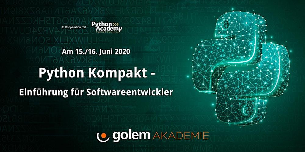 Python kompakt – Ein Online-Workshop für Softwareentwickler