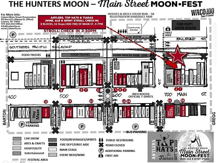 "Main Street MoonFest ""Antlers, Top Hats & Tiaras"" Wine, Ale & Spirit Stroll image"