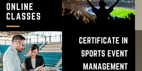 Online Course, Certificate in Sports Event Management, 5-Day Intensive entradas