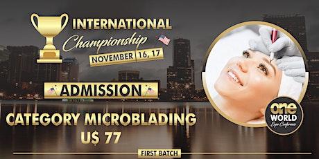 Campeonato One World Expo 2020 - Microblading bilhetes
