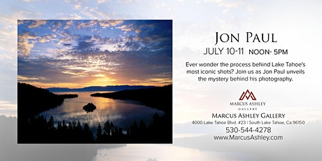 Jon Paul ~Meet the Artist~ July 10 & 11, from 12-5 pm tickets