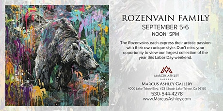 Rozenvain Family ~Meet the Artists~ September 5th & 6th, 12-5pm tickets