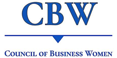 CBW (Council of Business Women tickets