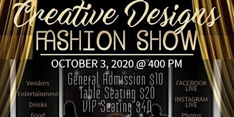 Creative Designs Fashion Show tickets