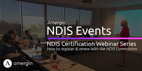NDIS Provider Certification tickets