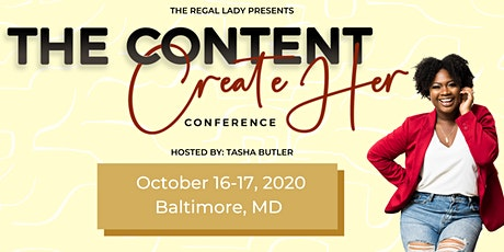 Content CreateHer Conference tickets