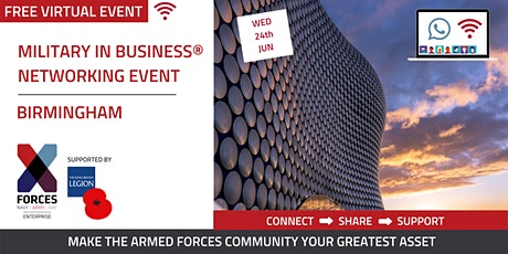 Military in Business Virtual Networking Event- Birmingham tickets