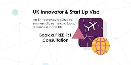 UK  Innovator & Start Up Visa - FREE 1:1 Consultation tickets