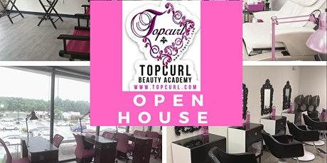 TopCurl Beauty Academy Open House tickets