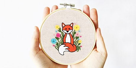 Modern Embroidery Fox Workshop tickets