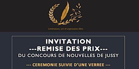Remise des prix du Concours de Nouvelles de Jussy tickets