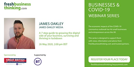 7 steps to growing your digital business & survive and thrive in lockdown tickets