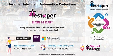 Testoper Intelligent Automation Codeathon (Weekly from 04 Apr to 19 Dec)
